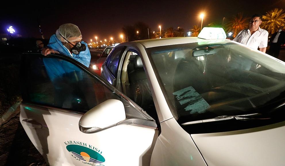تدابیر شرکت عمران، آب و خدمات کیش در جهت ضدعفونی ناوگان حمل و نقل عمومی کیش