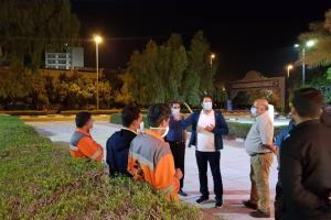 بازدید سرزده و شبانه ابوالفضل طیبی از عملکرد تیم های خدمات شهری
